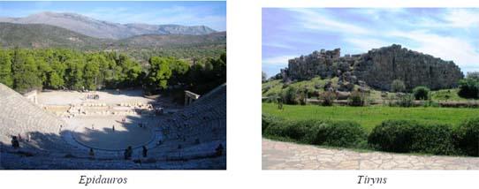 Epidauros, Tíryns