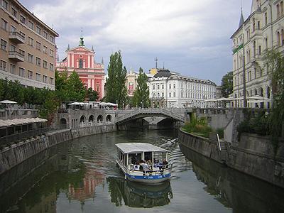 Řeka Lublanice v Lublani