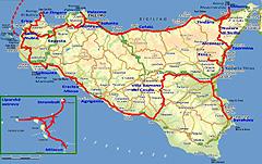 Naše trasa po Sicílii