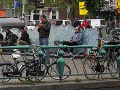 Pouliční život v Amsterdamu