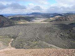 Oblast Landmannalaugar - lávový splaz