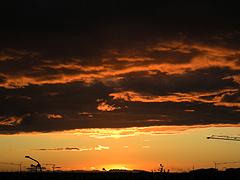 Reykjavík v červenci těsně před půlnocí