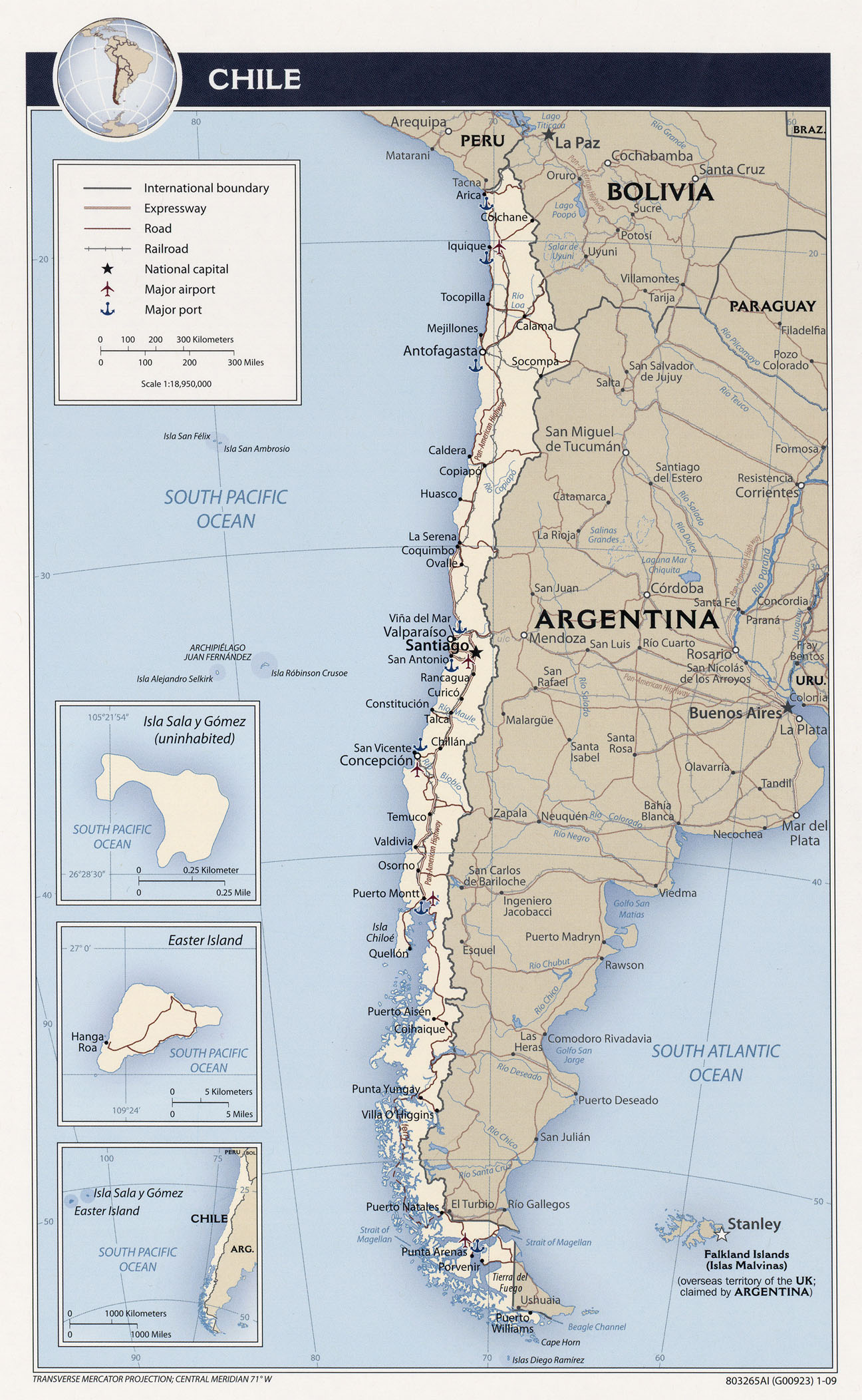 Chile Map South America Chile South America Map