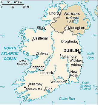 irska mapa Irsko: mapa Irska | CK Mundo irska mapa