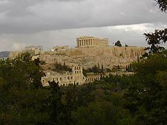 Athény, Akropolis - fotka pořízena zFilopapova pahorku