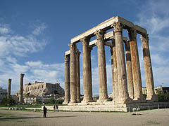 Athény, chrám boha Dia Olympského