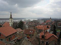 Pohled na městskou část Bělehradu Zemun