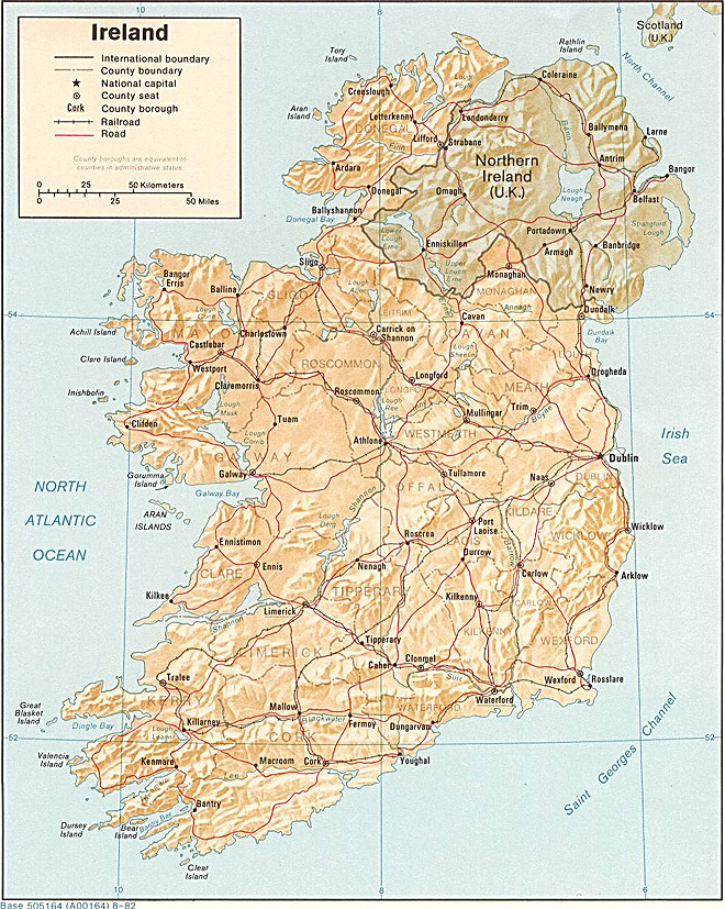 Irsko Mapa Irska Ck Mundo