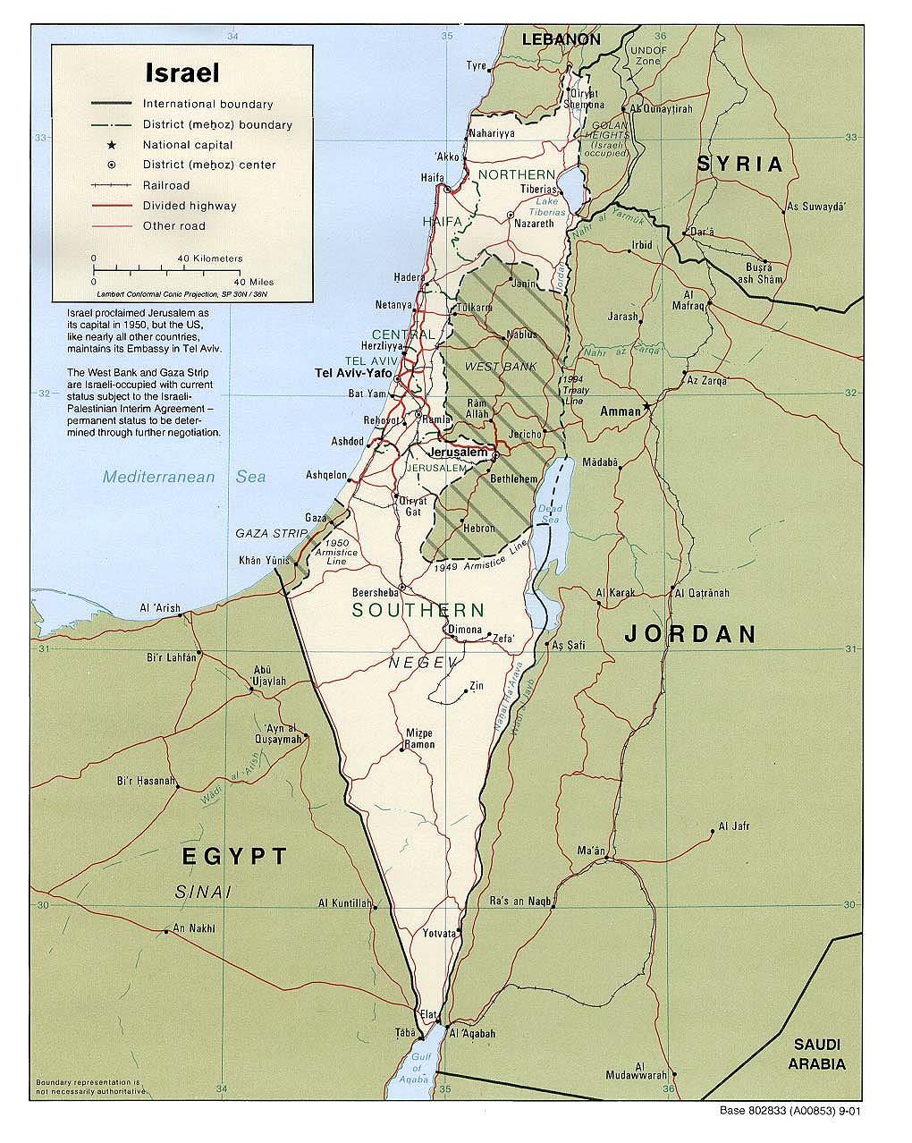Izrael Mapa Izraele A Palestiny Ck Mundo