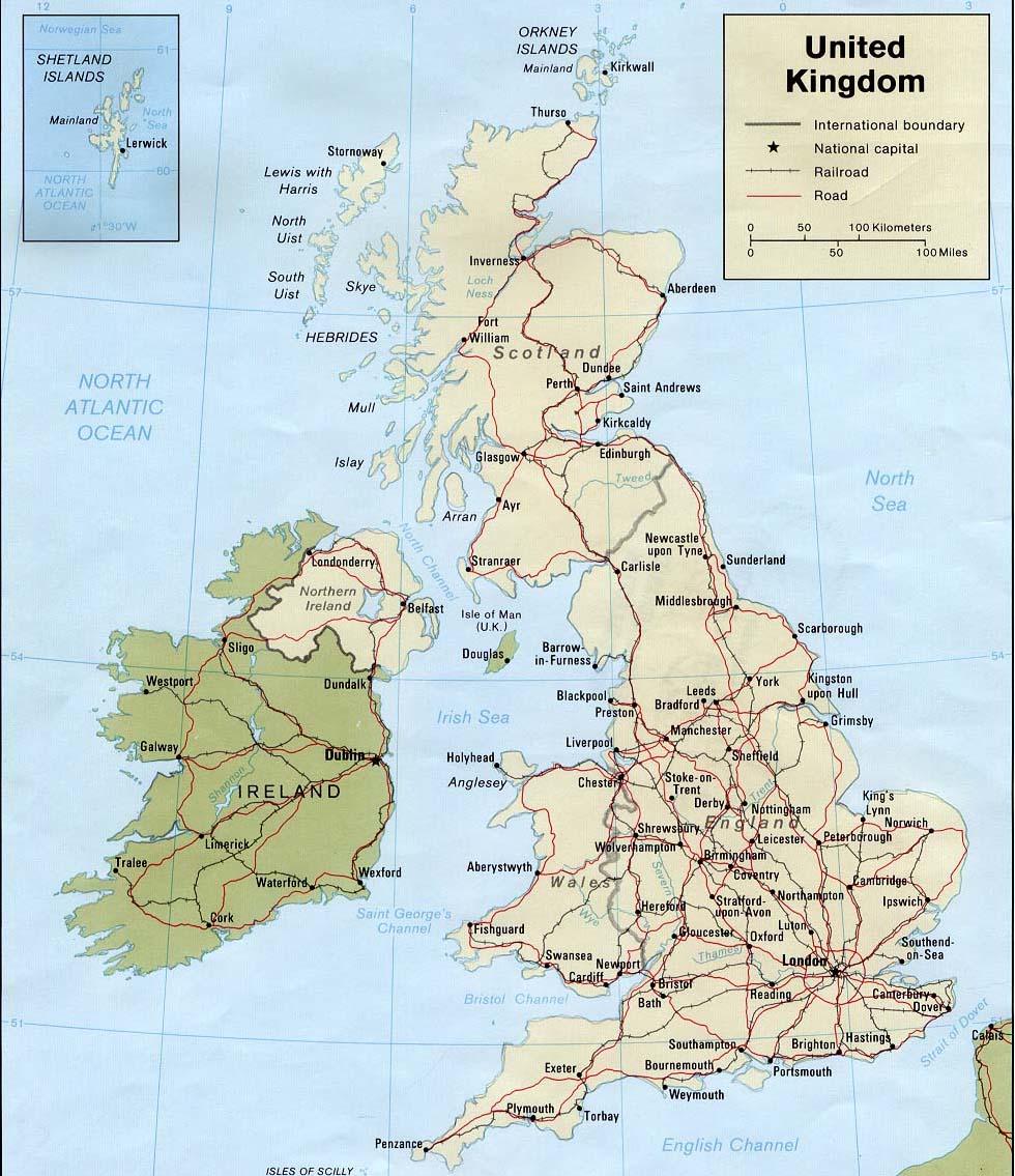 Skotsko Mapa Skotska Ck Mundo