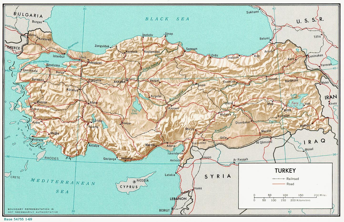 Turecko Mapa Turecka Ck Mundo