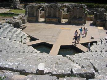 Amfiteátr vButrintu mohl pojmout až 2000diváků