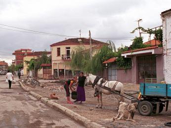 Místní stále používají povozy tažené koňmi, a tak se Vám může stát, že Vám místo furgonu nabídnou svezení