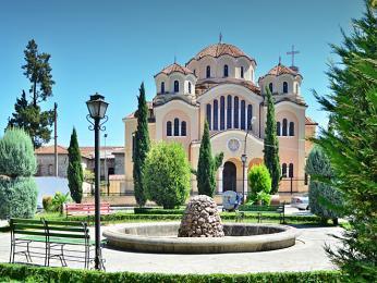 Ortodoxní katedrála ve městě Škodra