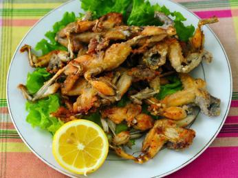 Součástí albánské kuchyně jsou ižabí stehýnka