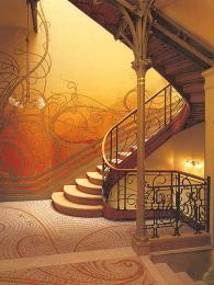 Nádherný secesní interiér domu Tassel navržený Victorem Hortou