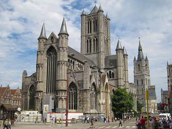 Gotická katedrála St-Baafskathedraal vGentu