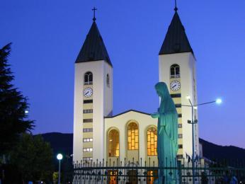 Město Međugorje je dnes světově proslulé poutní místo