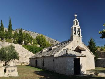 Starý srbský kostel v Mostaru