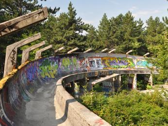 Bobová dráha nad Sarajevem je pozůstatkem ZOH 1984