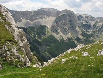 Vrchol Maglić v národním parku Sutjeska