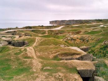 Pointe du Hoc - bojiště 2. světové války