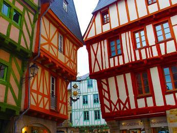 Hrázděné domy ve Vannes