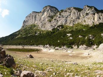 Stolová hora Crvena Greda v NP Durmitor