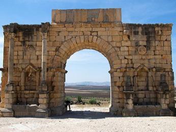 Volubilis – kdysi nejodlehlejší římské město v Africe