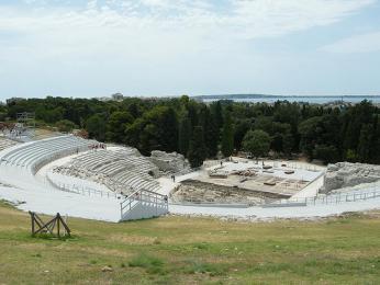 Syrakusy - velké divadlo