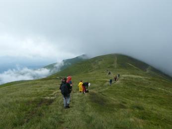 Mlha a déšť na Boržavě