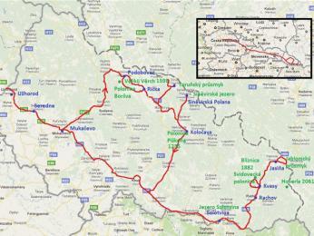 Naše trasa po Zakarpatské Ukrajině