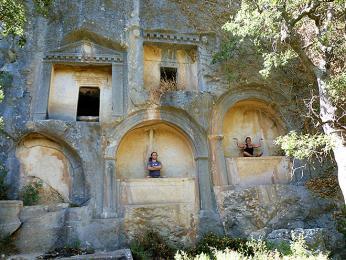 Lýcké skalní hrobky v pohoří Taurus