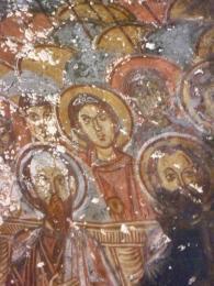Křesťanské fresky ve skalní vesničce Soganli