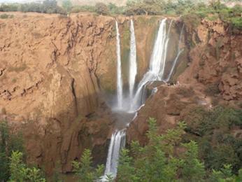 Cascades d´Ouzoud, nejvyšší vodopády Maroka
