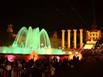 Zpívající fontána v Barceloně