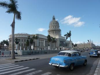 Kapitol, dřívější sídlo kubánské vlády, dnes je zde akademie věd