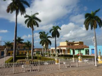 Hlavní náměstí vhistorickém centru Trinidadu