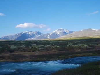 Večer vtundře vNP Rondane