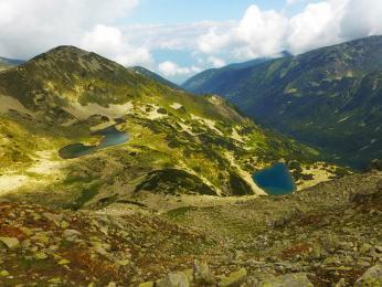 Výhledy na jezera cestou kchatě Vichren