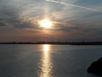 Helsinky vzápadu slunce