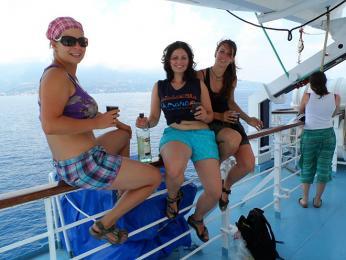 Loučení s Korsikou na trajektu