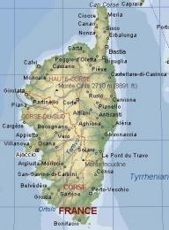 Mapa Korsiky