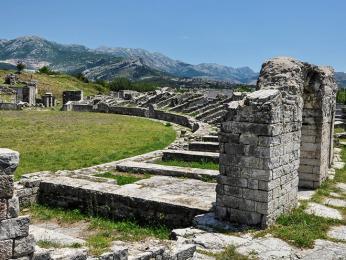 Ruiny antického města Salona poblíž Splitu