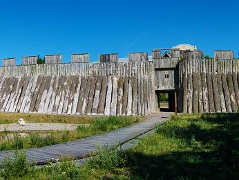 Pevnost Trelleborg je jednou ze čtyř zachovaných vikinských pevností vDánsku