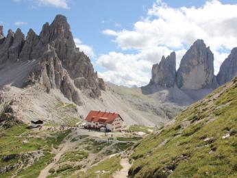 Chata Rifugio A. Locatelli, Sextenské Dolomity