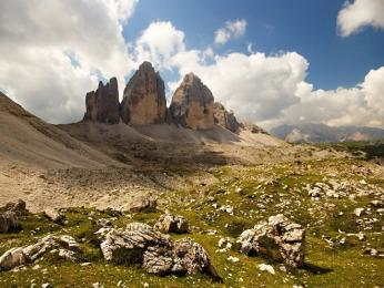 Tre Cime di Lavaredo, symbol Dolomit