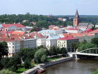 Výhled na druhé největší estonské město Tartu