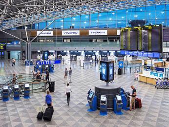 Terminál mezinárodního letiště Vantaa vHelsinkách