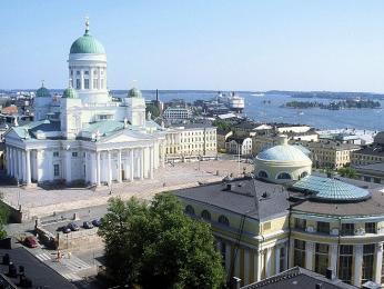 Senátní náměstí a katedrála vHelsinkách